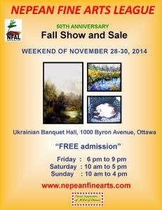 Nepean Fine Art League Fall Show And Sale